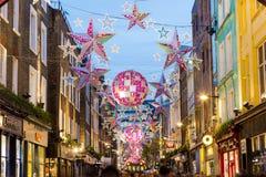 Carnaby ulica przy bożymi narodzeniami Zdjęcie Royalty Free