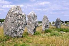 carnac μόνιμες πέτρες της Γαλλί&al Στοκ εικόνες με δικαίωμα ελεύθερης χρήσης