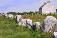 carnac μόνιμες πέτρες της Γαλλί&al Στοκ φωτογραφία με δικαίωμα ελεύθερης χρήσης