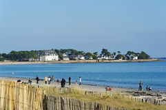 Carnac beach in Brittany Stock Images
