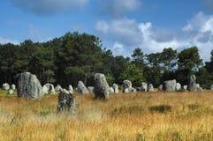 Carnac (Bretagna, Francia): menhir Fotografia Stock