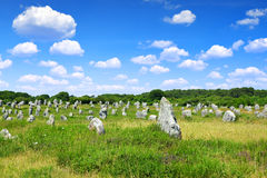 Carnac,Brittany, France. Megalithic monuments menhirs in Carnac,Brittany, France Stock Photo