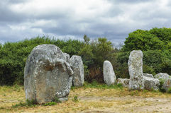 Carnac (Brittany, France): menhir and dolmen Royalty Free Stock Photos