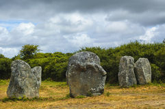 Carnac (Brittany, France): menhir and dolmen Royalty Free Stock Images