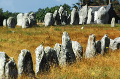 Carnac (Brittany, France): menhir Royalty Free Stock Photography