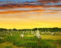 Carnac Brittany, Frankrike Fotografering för Bildbyråer