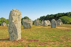 Carnac megalithic site in Brittany, France stock photos