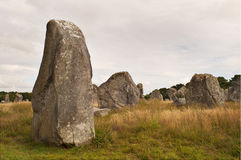 Carnac megalithic stones, Brittany, France Stock Photography