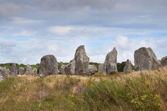 Carnac megalithic stones, Brittany, France Royalty Free Stock Image