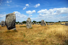 Carnac megaliths. Famous megaliths in Carnac, Brittany, France Stock Images