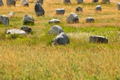Carnac megaliths Stock Photography