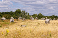 Carnac megaliths Stock Images