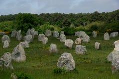 Carnac Neolityczni Menhirs Obrazy Stock