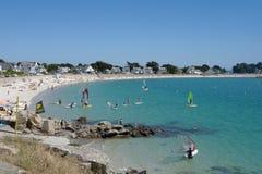 Carnac plaża z windsurfer Obrazy Stock