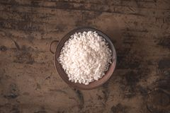 Carnaroli italian rice. Carnaroli italian cultivar of rice cultivated best know as the best for risotto Stock Photography