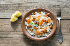 Carnaroli rice with seafood Stock Image