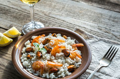 Carnaroli rice with seafood Royalty Free Stock Photo