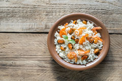 Carnaroli rice with seafood Royalty Free Stock Image