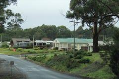 Carnarvon Bay Tasmania Country side. Carnarvon Bay Village on Arthur Highway on way to Port Arthur, Hobart, Australia Stock Photos