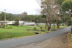Carnarvon Bay Tasmania Country side. Carnarvon Bay Village on Arthur Highway on way to Port Arthur, Hobart, Australia Royalty Free Stock Image