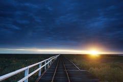 Carnarvon Jetty. Western Australia under a glorious sunset Royalty Free Stock Photos