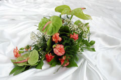 Carnation and anthurium bouquet Royalty Free Stock Photography