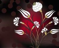 Carnation bouquet illustration design Royalty Free Stock Image