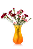 Carnation bouquet in a vase Royalty Free Stock Photos