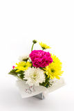 Carnation and chrysanthemum flower in vase. Stock Photography