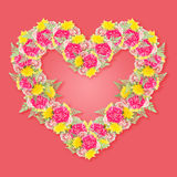Carnation flower bouquet with heart shape Stock Photography