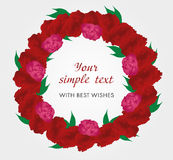 Carnation red wreath. Royalty Free Stock Photos