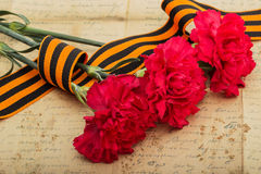 Free Carnations And Letter From The War Stock Photos - 52779673