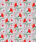 Carnations (seamless pattern) Royalty Free Stock Photo