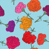 Carnations seamless pattern Stock Image