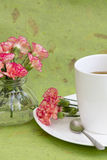 Carnations and Tea Royalty Free Stock Image