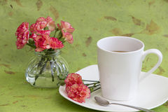Carnations and Tea Stock Photos
