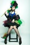 carnaval创造性的玩偶礼服做年轻人的模型样式 库存图片