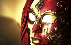Carnaval妇女面具 图库摄影