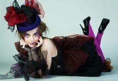 carnaval礼服设计年轻人 免版税图库摄影