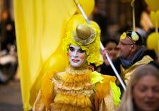 Carnaval à Barcelone dans le temps de soirée La Catalogne, Espagne Photo stock