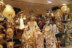Carnaval κοστούμια και μάσκες της Βενετίας Στοκ εικόνες με δικαίωμα ελεύθερης χρήσης