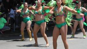 Carnaval στο Σαν Φρανσίσκο απόθεμα βίντεο
