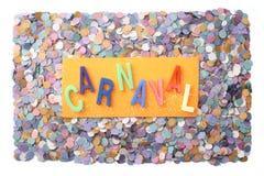 Carnaval -葡萄牙语(增殖比) 免版税库存照片