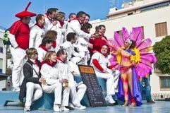 Carnaval 2010 de Sitges Photo libre de droits