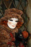 Carnaval 2011 de Venecia - máscara Imágenes de archivo libres de regalías