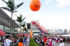 Carnaval 2012 del barco del dragón de Hong-Kong Imágenes de archivo libres de regalías