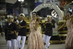 Carnaval 2017 - Academicos font Cubango Image libre de droits