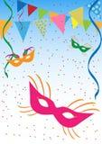 Carnaval-achtergrond stock illustratie