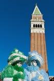 Carnaval anual en la ciudad de Venecia, Italia Imagenes de archivo