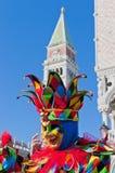 Carnaval anual en la ciudad de Venecia, Italia Imágenes de archivo libres de regalías
